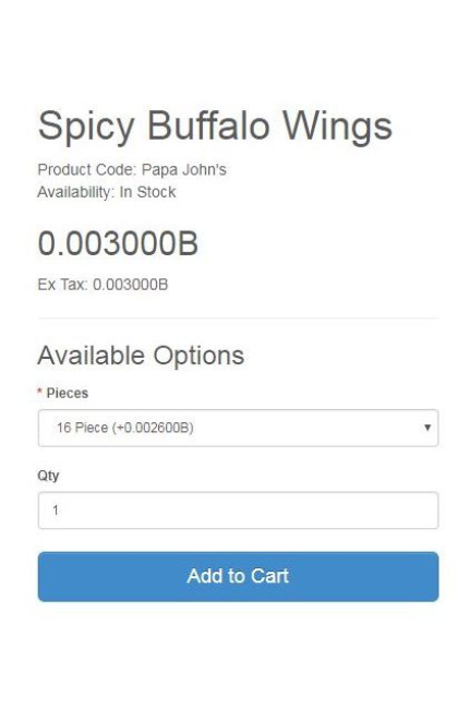 buffalo wings - bitcoin